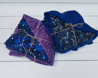 Weighted Blanket for Child - Glow in the Dark Night Sky and Luxurious Complementing Minky (35x50 inches) - Kid Weighted Blanket