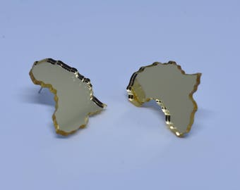 Mini Africa mirror earrings
