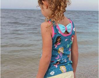 Sweet Caroline Dress, Peplum and Tank Sewing Pattern   Bow Back Dress Sewing Pattern   Tiered Dress Sewing Pattern