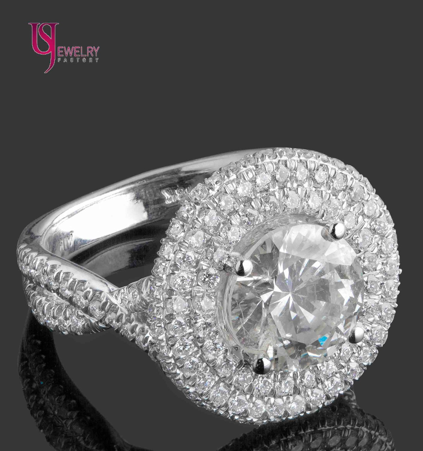 products h stone ring g cluster clarity of rings certified copy gia white engagement diamond gold ct color