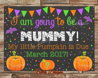 Fall Pregnancy Announcement, New Baby Announcement, Halloween Announcement, I'm going to be a Mummy, Halloween Announcement