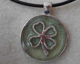 Four Leaf Clover Reiki Infused Necklace