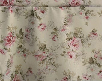 Fabric cotton polyester ecru rose pink easy care