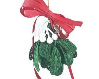 Mistletoe - Christmas Mistletoe - Christmas decoration - Embroidered mistletoe