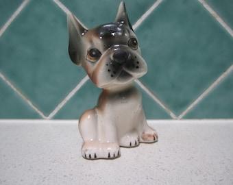 Cute Vintage Ceramic Boxer Puppy - 1950's