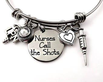 LPN Nurses Bracelet  - Nursing Registered Nurse - Nurses Call the Shots -