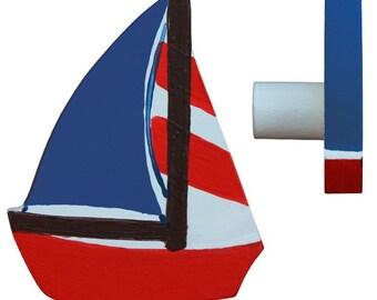 Sailing Boat Drawer Knob - Nautical Drawer Pull