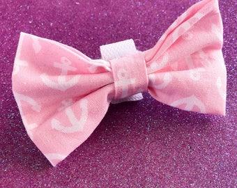 Pink Anchor Dog / Cat Bowtie