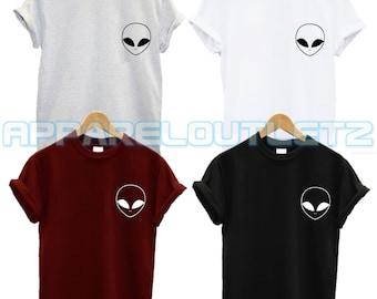 alien pocket logo t shirt ufo swag dope hipster trend fashion new tumblr spaceship unisex