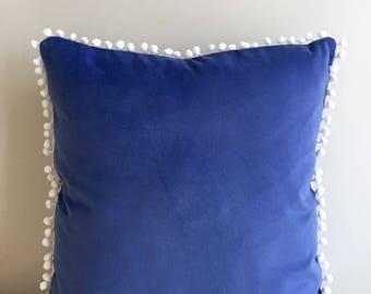 Blue Velvet Pillow Cover, Pillow Velvet, 18X18 Blue Pillow, Designer Pillow, Velvet Pillows, Velvet Cushion Covers, Blue Sofa Pillow Cover