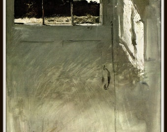 "Door Light from Andrew Wyeth, Andrew Wyeth print, American Artist, Wyeth Art, Wyeth Art, New England Painting, approx 13"" X 17"" tall."