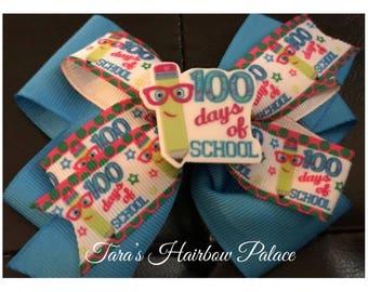 100 Days Of School Hair Bow