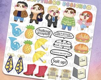 How I Met Your Mother Deco Sticker Set || Planner Stickers, Cute Stickers for Erin Condren (ECLP), Filofax, Kikki K, Etc. || DS11