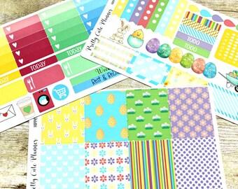 Easter Planner Stickers -Weekly Planner Sticker Set -Erin Condren Life Planner -Happy Planner -Day Designer-Functional stickers