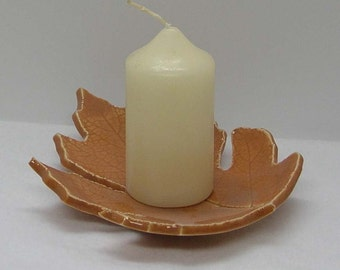 Porcelain Oak Leaf Hydrangea Leaf Impressed Plate Dish