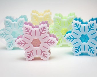 Snowflake Soap Christmas Soap Beautiful Decorative Snowflake Soap Gift Soap Holiday Soap Frozen soap Christmas Gift