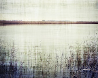 Still Waters Lake Photography Grey Blue Home Decor 10x8 Print Still Waters...