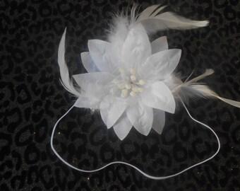 White Flower  Baby Headband, Newborn Headband,  Infant Headband,Baby Headband, Headband Baby, Baby Headband