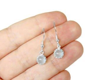 Aqua Chalcedony Earrings in Sterling Silver