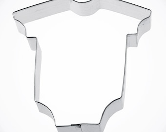 baby bodysuit cookie cutter, body suit ONE piece t shirt Baby Shower Cookie Cutter Christening