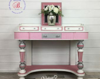 Vintage Writing Desk, Shabby Chic, Hand painted furniture