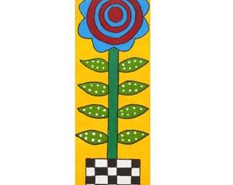 Bright Flower in a Colorful Pot 1 original