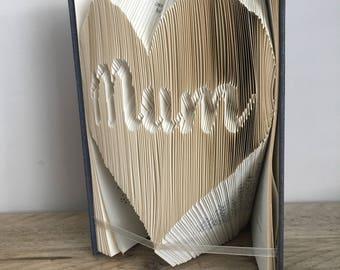 Mum In Heart Folded Book