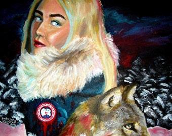 Vegan Painting | Cruelty Free | Animal Rights | Vegan | Vegan Message | Animal Liberation | Make Fur History | Original Art Print