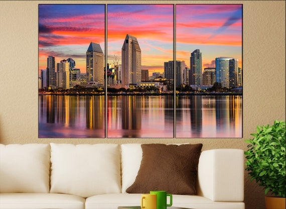 San Diego  canvas wall art  San Diego  wall decor canvas wall art  San Diego large canvas wall art wall decoration