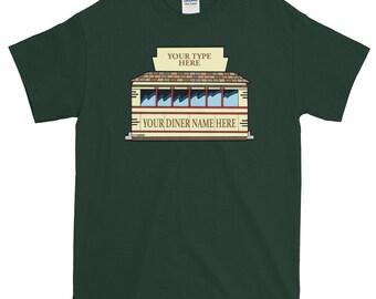 Personalized Custom Diner T-Shirt -- Image #3 -- Men's