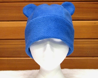 Gummy Bear Hat - Blue Fleece Animal Hat by Ningen Headwear