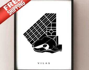 Vilas Map - Madison, WI Neighbourhood Art Print