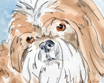 Custom Pet Portrait, Pet Loss Gift, Custom Pet Art, Watercolour Pet, Pet Gift, Pet Custom Drawing, Portrait Pet, Pet Lover, Pet Illustration