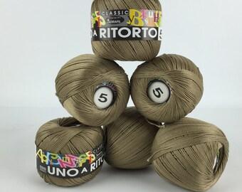 6 colors! - Italian Yarn Adriafil Uno a Ritorto 5 - Cotton Yarn - Summer Yarn - Knitting Yarn - Crochet Yarn -