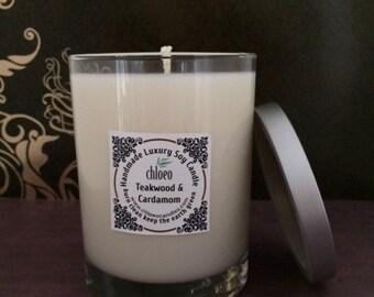 Teakwood & Cardamom Handmade Soy Wax Candle