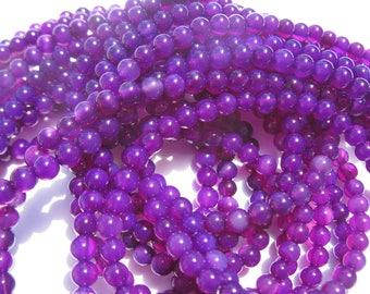12 purple 4 mm (11-7) colorful agate beads