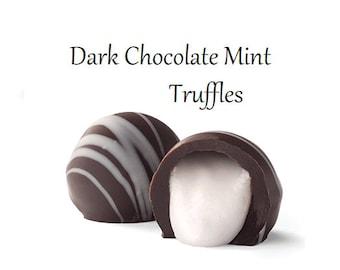 Dark Chocolate Mint Truffles