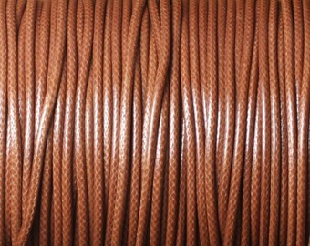 Reel 90 m - wire cord 1.5 mm Brown waxed cotton cord