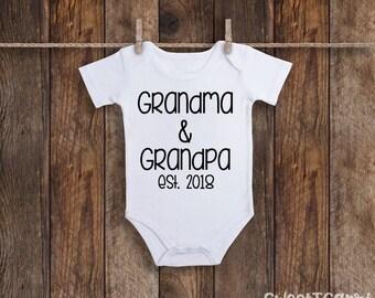 Pregnancy Announcement Onesie, Baby Announcement Onesie, Pregnancy Reveal To Grandparents, Baby Announcement Grandparents, Baby Announcement