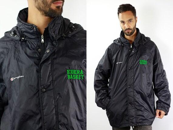Champion Jacket Black Champion 90s Jacket Black Champion Bomber Jacket 90s Bomber Jacket Basketball Jacket Mens Jacket Men Bomber Jacket