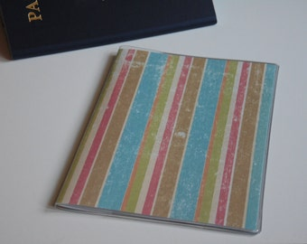 Passport Cover, Distressed Stripes, Passport  Sleeve, Case, Holder