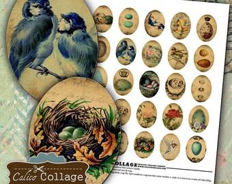 Vintage Birds Digital Collage Sheet 30x40mm Collage Sheets Pendant Images for Bezels Magnets Resin Pendants Calico Collage Decoupage Paper