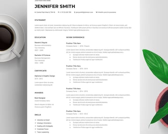 Google Docs Resume Template Mac, Resume Google Docs, Creative Resume Template, CV Template Google Docs, Cover Letter, Instant Download