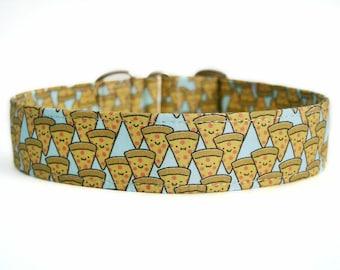 Happy Pizzas Dog Collar / Custom Dog Collar / Martingale