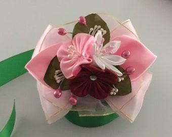 Kanzashi Hair Tie, Kanzashi Flower Tie, Elastic Tie