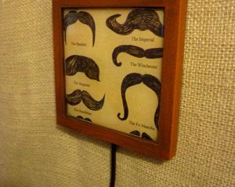 Mustache Wall Hook (red wood)