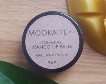 100% Natural Mango Lip Balm// Made in Melbourne// MookaiteAU