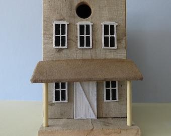 Old Western Birdhouse, Rustic Birdhouse, Old Wood, Reclaimed Wood, Simple Birdhouse, Decorative Outdoor,Natural Wood,jbhammdesigns