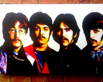 The Beatles-All You Need Is Love-Quadro Modern art Style Pop art painting handmade canvas 100% cotton acrylic color