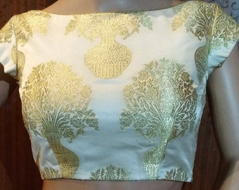 Beautiful pure silk blouse in boatneck style